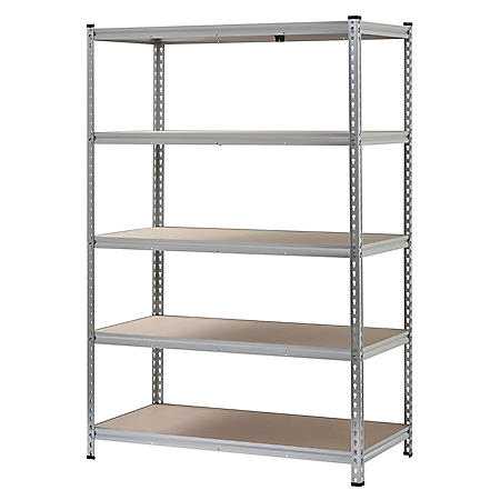 Muscle Rack 5-Shelf Boltless Aluminum Shelving Unit (72 in. H x 48 in. W x 24 in. D)