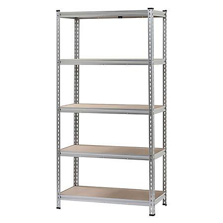 Muscle Rack 5-Shelf Boltless Aluminum Shelving Unit (72 in. H x 36 in. W x 18 in. D)