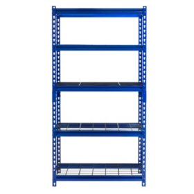"Muscle Rack 5-Shelf Steel Shelving Unit (30""x12""x60"")"