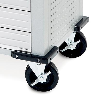Seville Classics UltraHD 5-Inch Swivel Wheels (Set of 2)