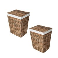 Member's Mark Woven Lidded Laundry Hamper with Canvas Liner (Set of 2)