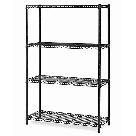 Seville Classics 4-Level Shelving - Black