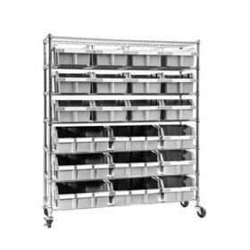 Seville Classics Commercial 7-Tier 21-Bin Extra-Large NSF-Certified Bin Rack