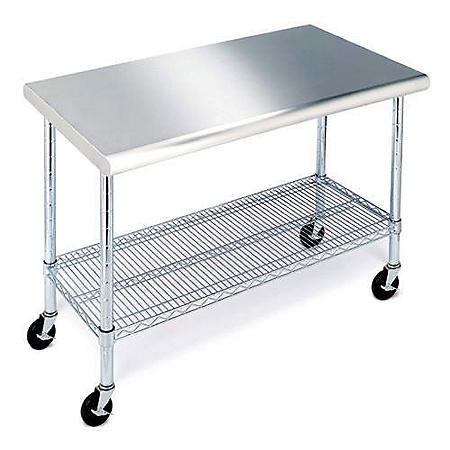 Member S Mark Work Table With 49 Stainless Steel Top
