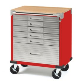 Seville Classics UltraHD Rolling 6-Drawer Tool Storage Cabinet with Key Lock