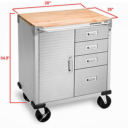 Seville Classics ULHD 4-Drawer Rolling Cabinet