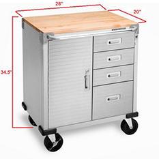 Seville Classics UltraHD 4-Drawer Rolling Cabinet