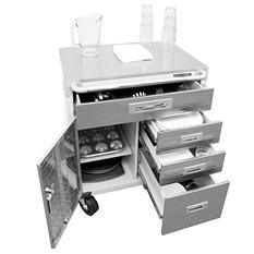 Seville Classics UltraHD Stainless Steel Top Rolling Cabinet
