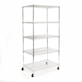 Seville Classics Heavy Duty 5-Level Steel Wire Shelving System
