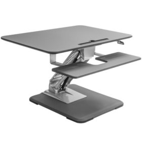 Seville Classics AIRLIFT® Pneumatic Sit-to-Stand Adjustable Single Column Riser Desk Converter