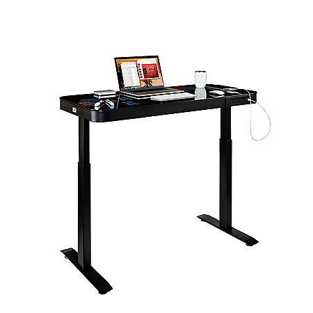 AIRLIFT Height Adjustable Electric Glass Desk, Various Colors