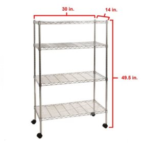 Seville Classics 4-Level UltraZinc Shelving