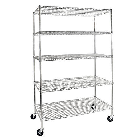 Seville Classics 5-Level Commercial Shelving with Wheels
