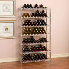 "Seville Classics 168 Bottle UltraZinc 7-Level Wine Rack (14"" x 36"" x 64"")"