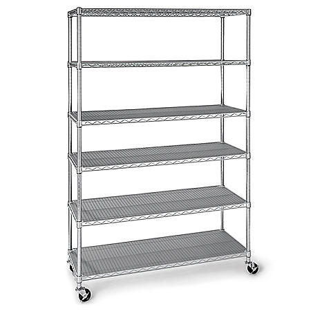 "Member's Mark 6-Tier NSF Steel Wire Shelving, 47.5"" x 18"" x 72"""
