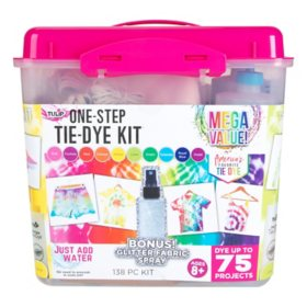 Tulip One-Step Tie-Dye Kit - 10-Color Mega Value Tub with Bonus Glitter Fabric Spray