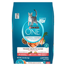 Purina One Tender Selects Dry Cat Food, Salmon (22 lbs.)