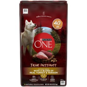 Purina ONE SmartBlend True Instinct Natural with Real Turkey and Venison Adult Dry Dog Food (40 lbs.)