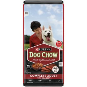 Purina Dog Chow Dry Dog Food, Complete Adult With Real Beef - 57 lb. Bag