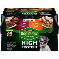 Purina Dog Chow High Protein Wet Dog Food in Savory Gravy, Beef & Chicken Variety Pack (13 oz., 24)
