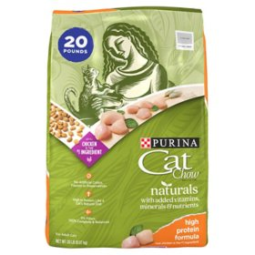 Purina Cat Chow Naturals High Protein Dry Cat Food with Real Chicken Recipe (20 lb. bag)