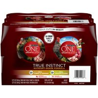 Purina ONE Natural Gravy Wet Dog Food Variety Pack, SmartBlend True Instinct Tender Cuts - (24) 13 oz. Cans
