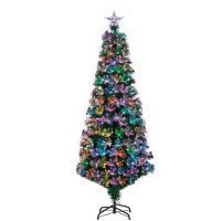 6' Fiber Optic Color-Changing Tree