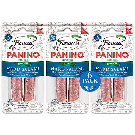 Fiorucci Panino Hard Salami Wrapped Mozzarella Cheese (6 pk.)