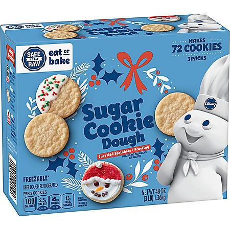 Pillsbury Sugar Cookie Dough (3 lbs., 3 pk.)