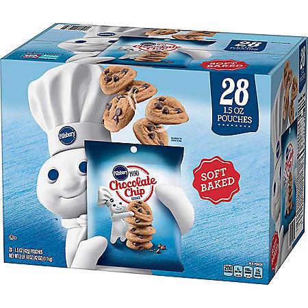 Pillsbury Soft Baked Mini Chocolate Chip Cookies (1.5 oz., 28 pk.)