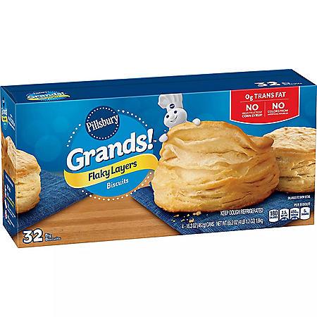 Pillsbury Grands! Flaky Layers Original Biscuits (65.2 oz., 32 ct.)