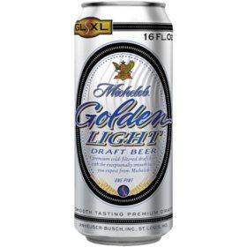 Michelob Golden Light Draft Beer (16 oz. cans, 24 pk.)