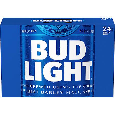 Bud Light Beer (12 oz. cans, 24 pk.)
