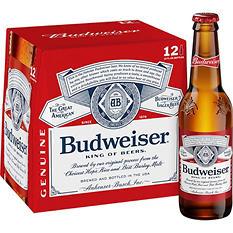 Budweiser (12 oz. bottles, 12 pk.)