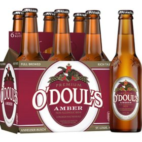O'Doul's Amber Non-Alcoholic Beer (12 fl. oz. bottle, 6 pk.)