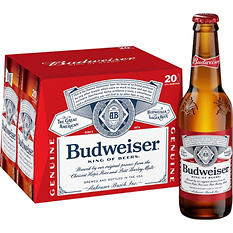 Budweiser (12 fl. oz. bottle, 20 pk.)