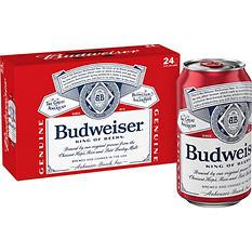Budweiser (12 oz. cans, 24 pk.)