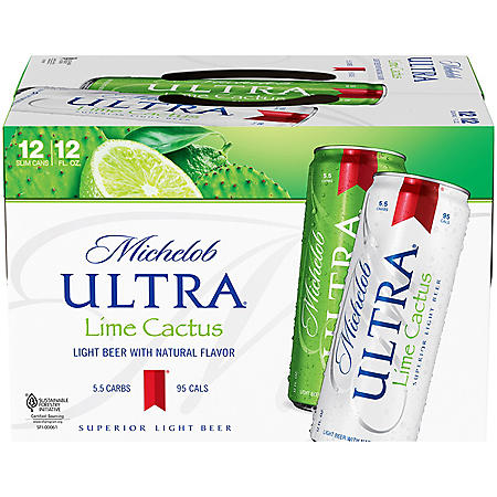 Michelob Ultra Infusions Lime and Prickly Pear Cactus (12 fl. oz. can, 12 pk.)