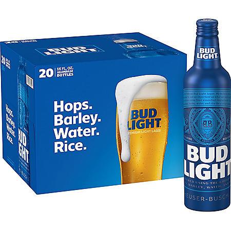 Bud Light Aluminum Beer (16 fl. oz. bottle, 20 pk.)