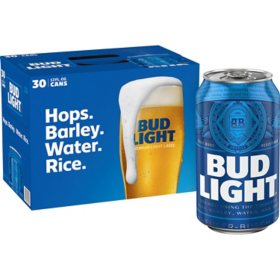 Bud Light Beer (12 fl. oz. can, 30 pk.) - Sam's Club