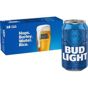 Bud Light Beer (12 fl. oz. can, 18 pk.)