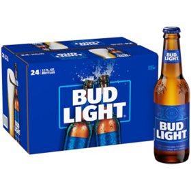 Bud Light Beer (12 fl  oz  bottle, 24 pk ) - Sam's Club