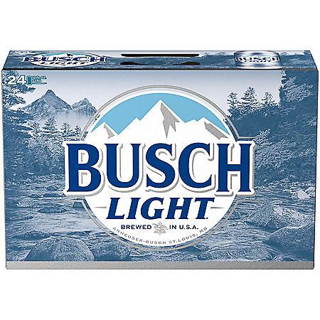 Busch Light Beer (12 fl. oz. can, 24 pk.)