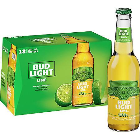 Bud Light Lime Beer (12 fl. oz. bottle, 18 pk.)