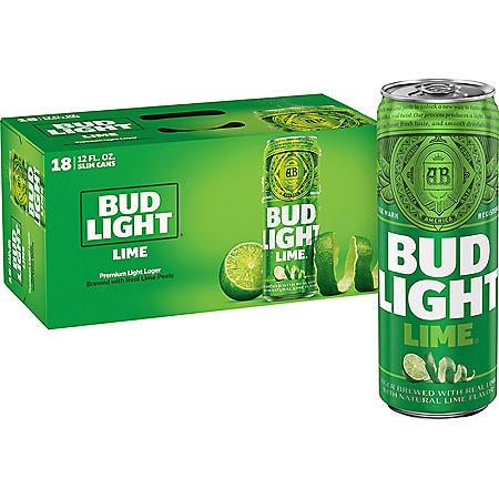 Bud Light Lime Beer (12 fl. oz. can, 18 pk.)