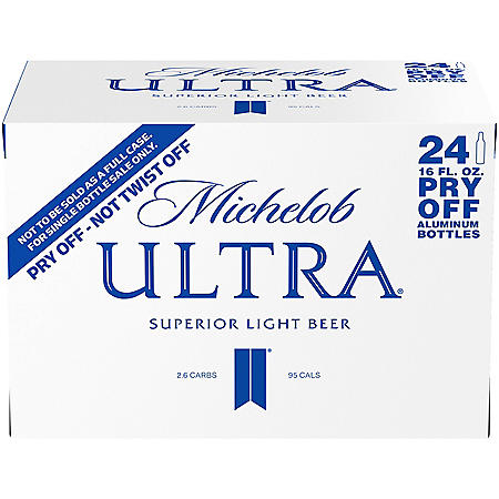 Michelob Ultra Superior Light Beer (16 fl. oz. aluminum bottle, 24 pk.)
