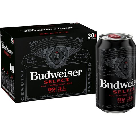 Budweiser Select (12 fl. oz. can, 30 pk.)