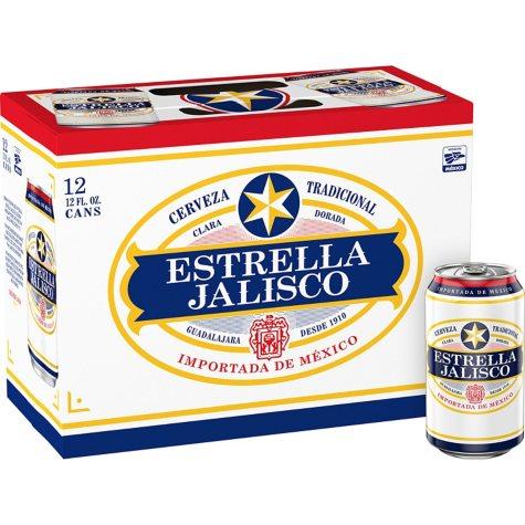 Estrella Jalisco Beer (12 fl. oz. can, 12 pk.)