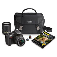 Nikon D3300 HD-SLR 24.2MP Camera Bundle with 18-55mm VR II Lens, 55-200mm VR II Lens, Camera Case and 32GB Memory Card