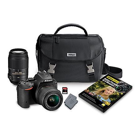 Nikon D5500 24 2MP CMOS Sensor DSLR 2-Lens Bundle, with 18
